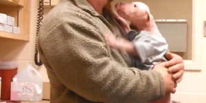 Joyful Reunion Between A Puppy & His Rescuer