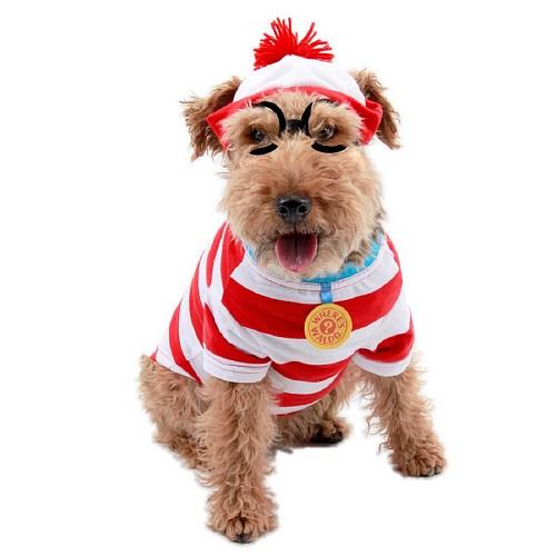 Elope Mens Wheres Waldo Woof Pet Costume