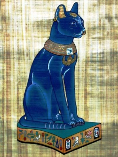 egyptian cat painting