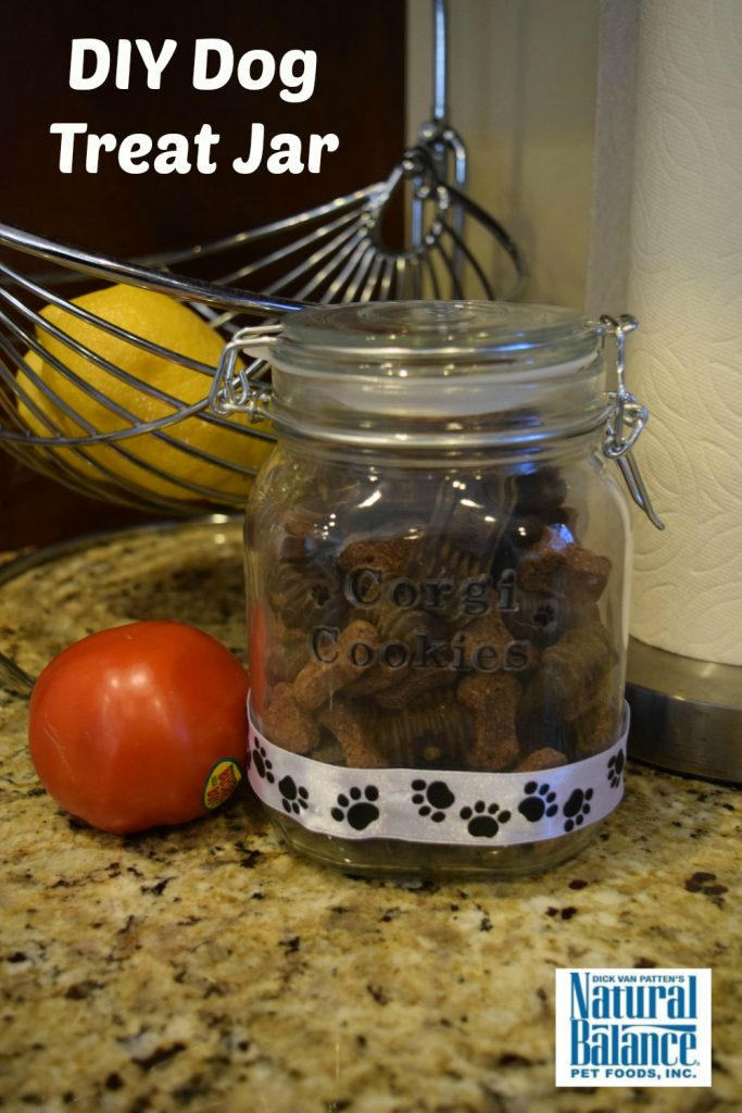 DIY Dog Treat cookie jar