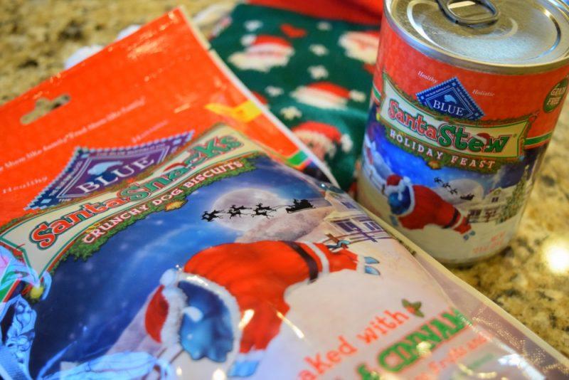 blue santa snacks
